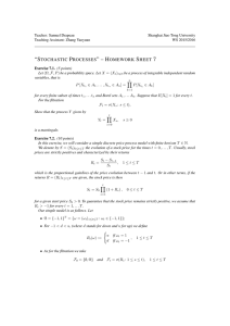 """stochastic processes""–homework sheet 7"