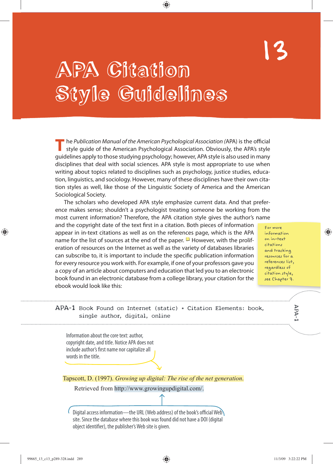Apa Citation Style Guidelines