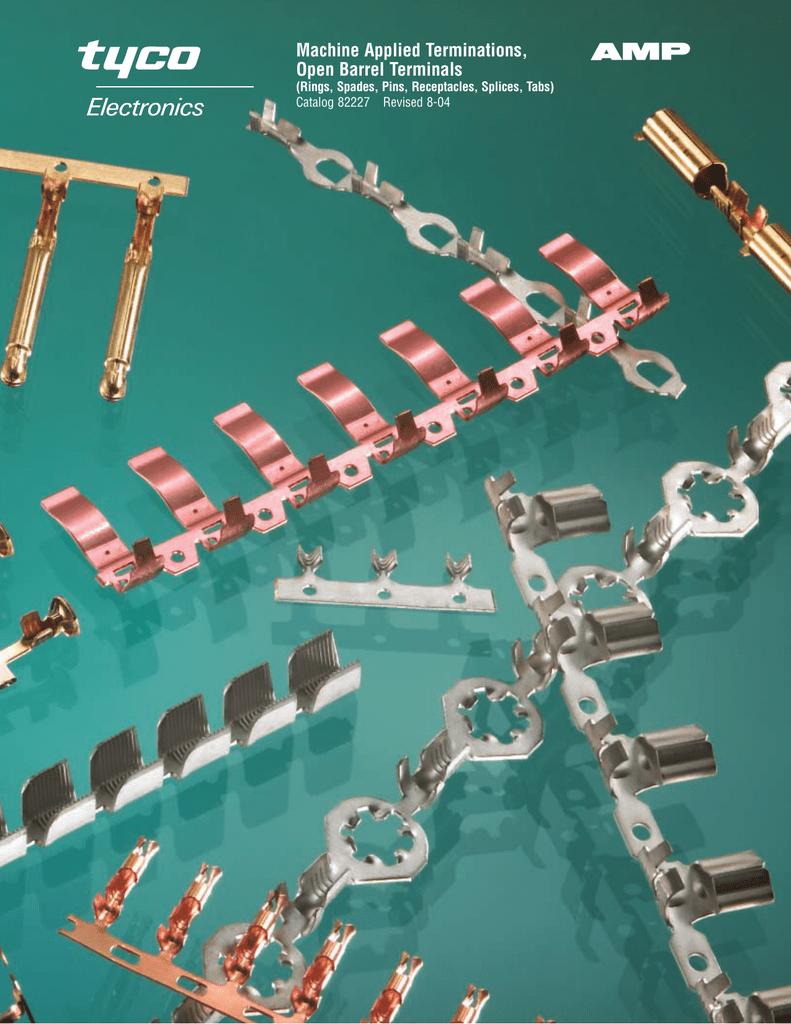 Catalog PDF Machine Applied Terminations, Open Barrel Terminals