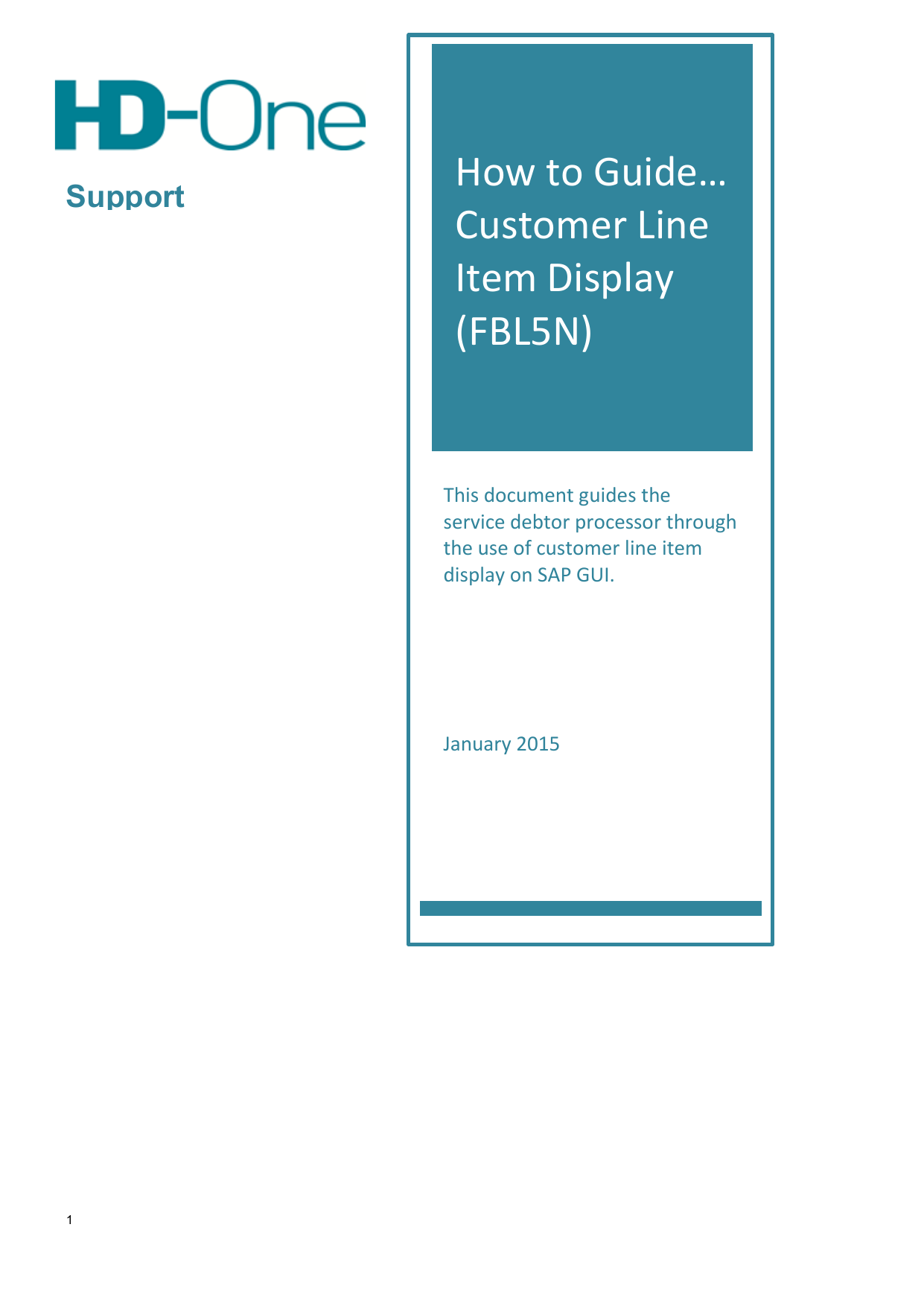 How to Guide… Customer Line Item Display (FBL5N