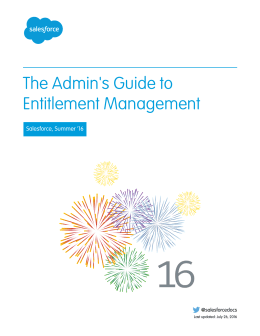 The Admin`s Guide to Entitlement Management
