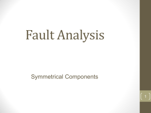 Fault Analysis Symmetrical Components