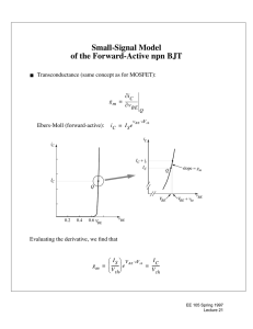 Small-Signal Model of the Forward