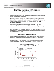 Battery Internal Resistance - Energizer Technical Information