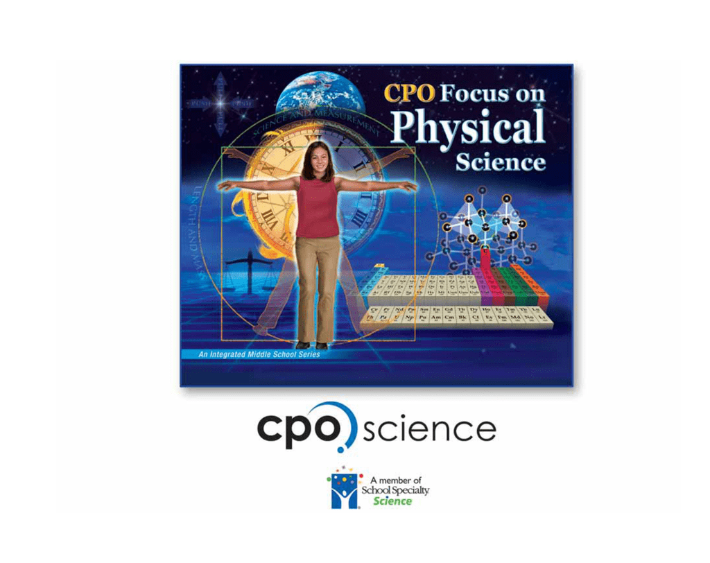 cpo focus on physical science answers