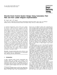 Discrete event control system design using automation Petri nets