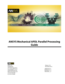 operating manual structural concepts ansys mechanical apdl parallel processing guide