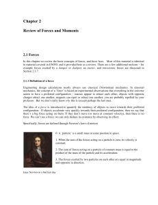 Chapter 2 Review of Forces and Moments