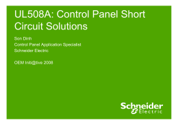 UL508A: Control Panel Short Circuit Solutions