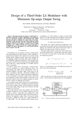 Design of a Third-Order Sigma-Delta Modulator with Minimum
