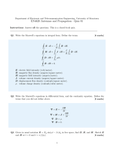 Quiz 01 Solution - Department of Electronic and Telecommunication