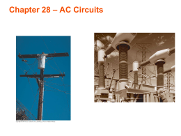 Chapter 28 – AC Circuits