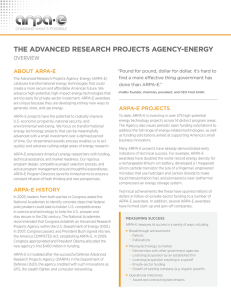 the advanced research projects agency-energy - ARPA