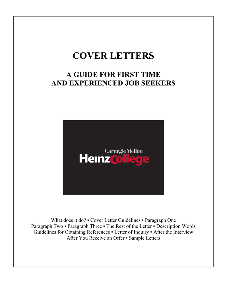 cover letters - Heinz College Home