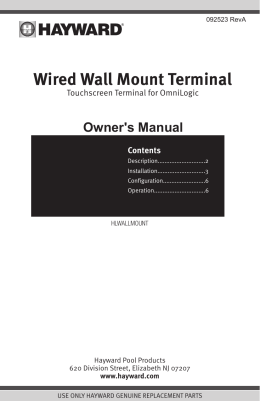 Wired Wall Mount Terminal