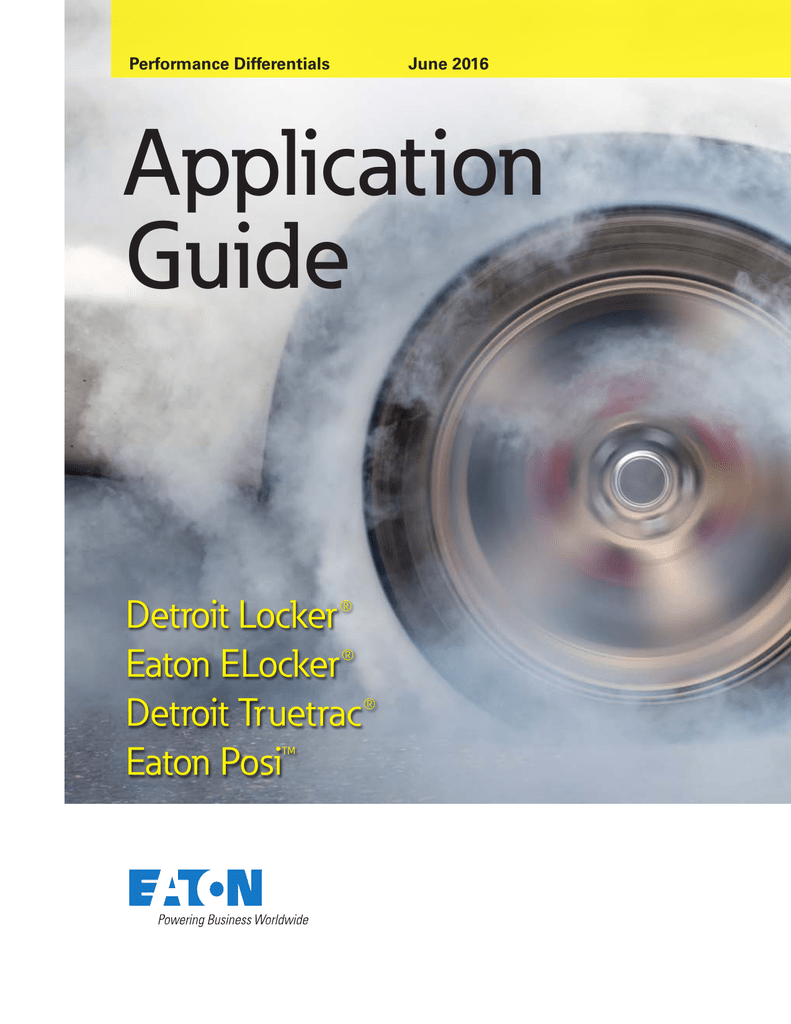 Eaton Performance Differentials Application Guide on