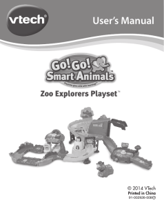 Go! Go! Smart Animals - Zoo Explorers Playset Manual