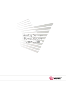 Analog Devices Power Module User Guide