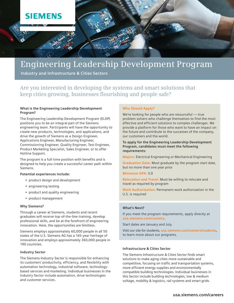 Engineering Leadership Development Program