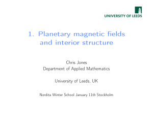 1. Planetary magnetic fields and interior structure