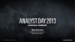 Financial Summary - Investor Relations Solutions