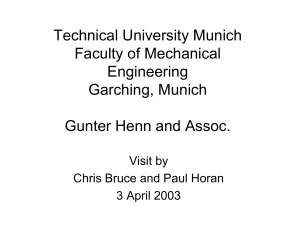 Technical University Munich Faculty of Mechanical Engineering