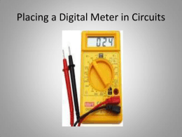 Placing a Digital Meter in Circuits - Cleveland Institute of Electronics