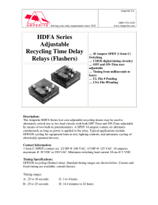 HDFA Series Adjustable Recycling Time Delay Relays