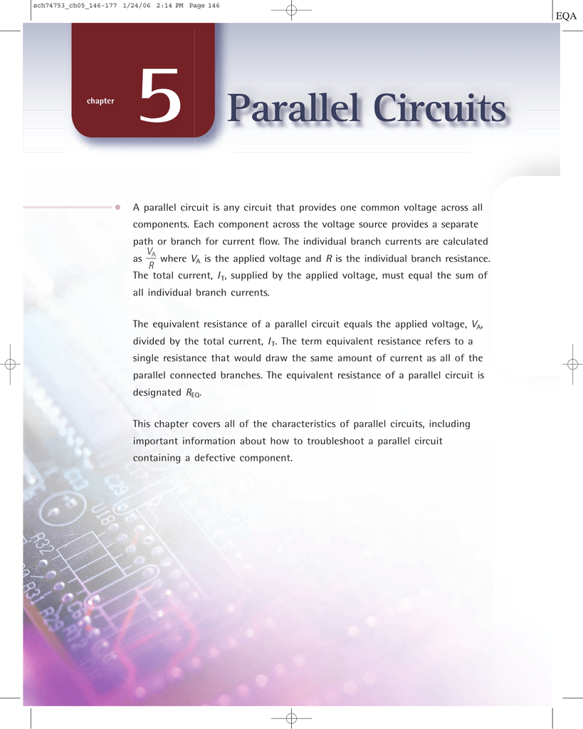 Sample Chapter 5 Parallel Circuit Current