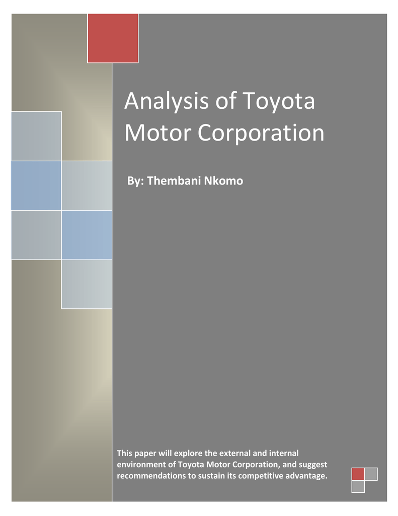 swot analysis of toyota motor corporation