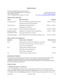 Curriculum Vitae - Arizona State University