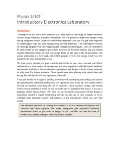 Introductory Electronics Laboratory