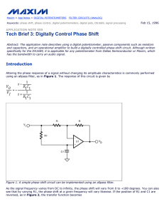 Tech Brief 3: Digitally Control Phase Shift