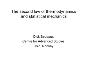 The second law of thermodynamics and statistical mechanics