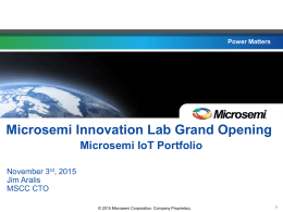 2015 Microsemi Corporation. Company