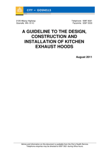Guideline For The Design, Construction And