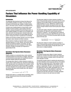 Factors That Influence the Power Handling Capability of