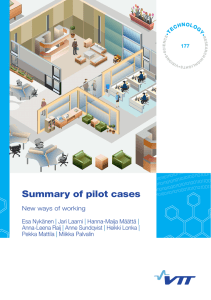 Summary of pilot cases. New ways of working