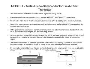MOSFET - Metal-Oxide-Semiconduct Transistor Semiconductor