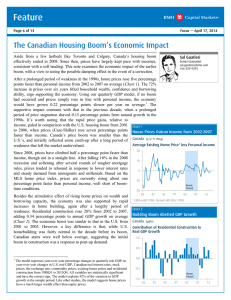 The Canadian Housing Boom`s Economic Impact