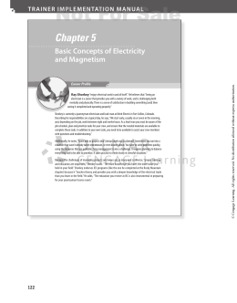 Chapter 5 Basic Concepts of Electricity and Magnetism