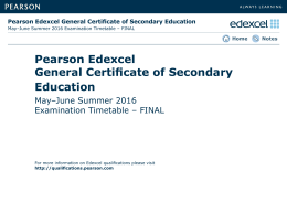 Pearson Edexcel General Certificate of Secondary Education