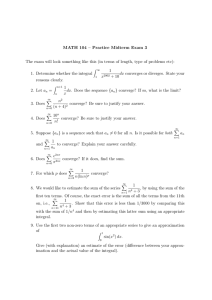 MATH 104 – Practice Midterm Exam 3 The exam will look something