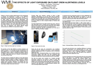 The Effects of Light Exposure on Flight Crew Alertness Levels