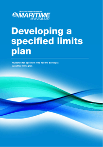 Developing a specified limits plan