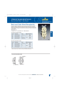 Back and Side Wired Receptacles - Nedco