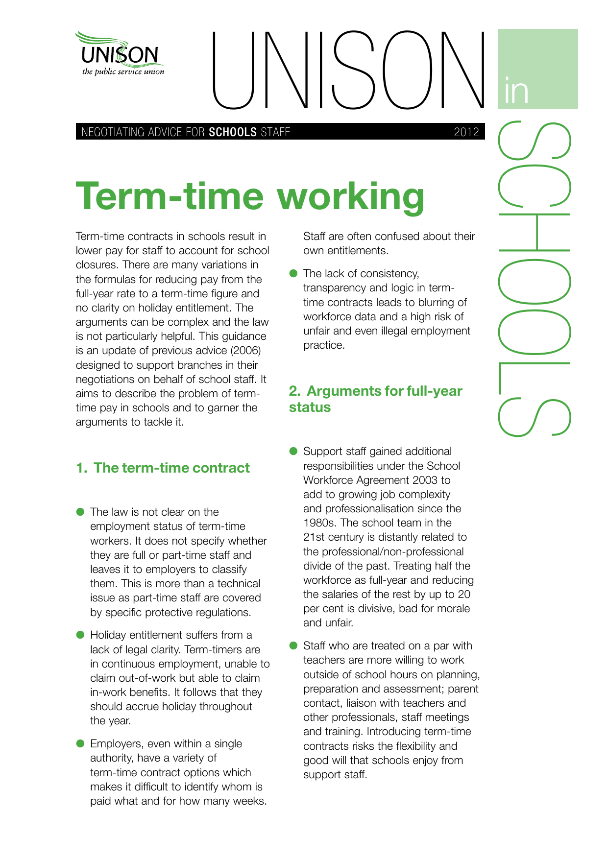 Term Time Working