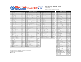 centurylink advanced tv channel lineup rh studylib net Newspaper TV Guide centurylink prism tv channel lineup