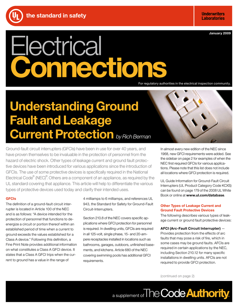Understanding Ground Fault And Leakage Current Protectionby Arc Circuit Breaker In Addition Interrupter