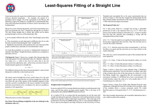 Least-Squares Fitting of a Straight Line